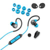 Fit Sport 3 Wireless Fitness Earbuds in black and blue with accessories
