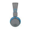 Image of side profile of the JBuddies Studio Bluetooth Over Ear Folding Kids Headphones in Blue