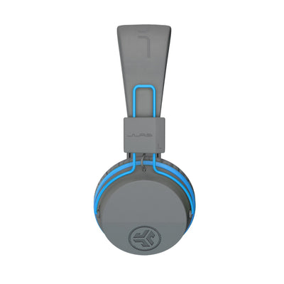 Afbeelding van zijprofiel van de JBuddies Studio Bluetooth Over Ear Folding Kids Headphones in blauw