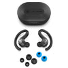 JBuds Air Sport True Wireless Earbuds com pontas de ouvido e estojo