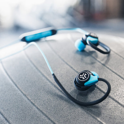 Fit Sport 3 Wireless Fitness Earbuds in black and blue
