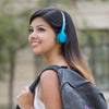 Niña Rewind Wireless Retro Headphones en azul