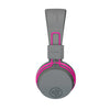Imagen de perfil lateral de la JBuddies Studio Bluetooth Over Ear Folding Kids Headphones en rosa