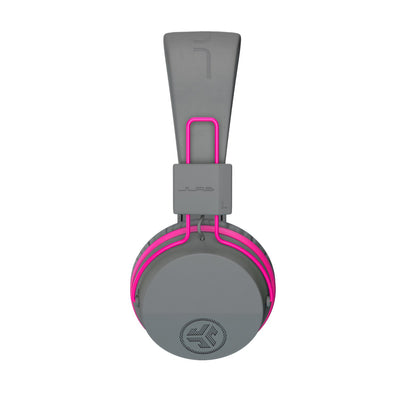 Zijprofielafbeelding van de JBuddies Studio Bluetooth Over Ear Folding Kids Headphones in roze