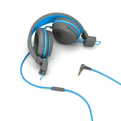 JBuddies Studio Over Ear Cuffie pieghevoli in blu con jack per cuffie