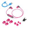 JBuds Pro Bluetooth Signature Earbuds met accessoires in roze