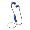 Metal Bluetooth Rugged Earbuds باللون الأزرق