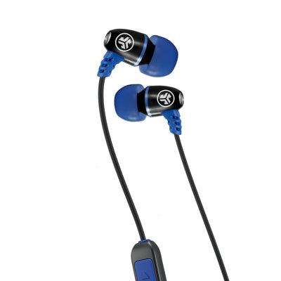 Metal Bluetooth Rugged Earbuds i blått