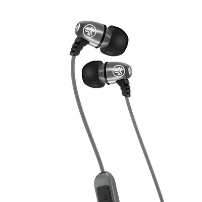 Metal Bluetooth Rugged Earbuds in silber