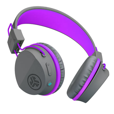 Neon Bluetooth Wireless On-Ear Headphones باللون الأرجواني