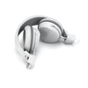 Neon Bluetooth Wireless On-Ear Headphones doblado en blanco