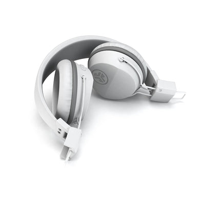 Neon Bluetooth Wireless On-Ear Headphones dobrado em branco