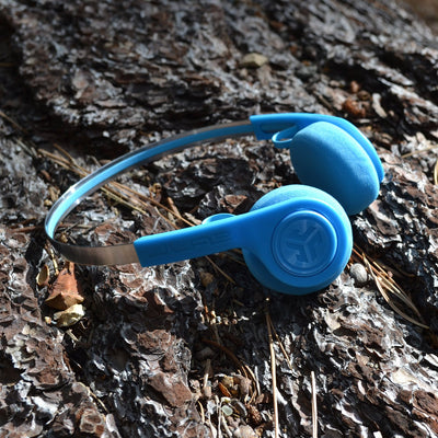Rewind Wireless Retro Headphones 青色の