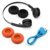 Rewind Wireless Retro Headphones con accesorios