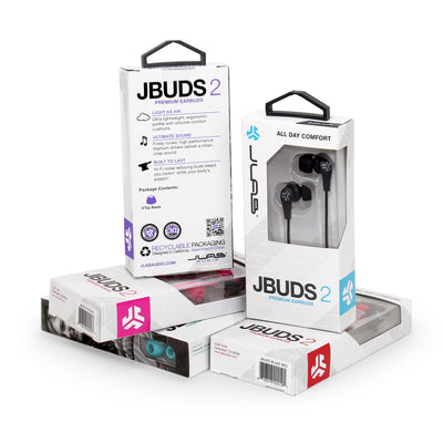 JBuds2 Signature Earbuds i emballage