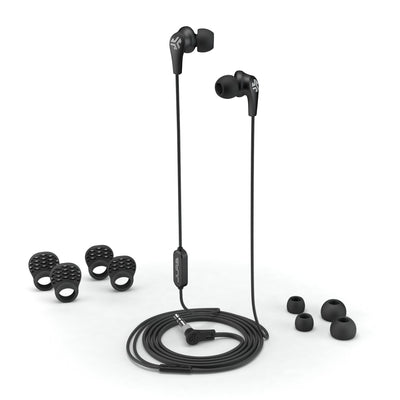 JBuds Pro Signature Earbuds in black with accessories
