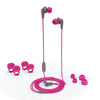 JBuds Pro Signature Earbuds in pink with accessories