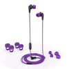 JBuds Pro Signature Earbuds in purple with accessories