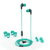JBuds Pro Signature Earbuds in teal with accessories