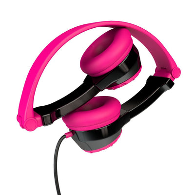 Black and Pink Folded JBuddies Kids Headphones