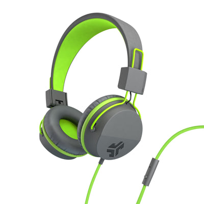 Neon On-Ear Headphones i grönt