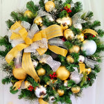 Silver and Gold Wreath- Multi Color Lights