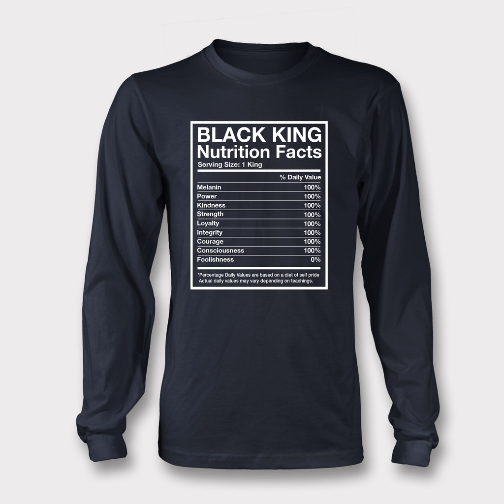 Black King Nutrition Facts - Long Sleeved Tee
