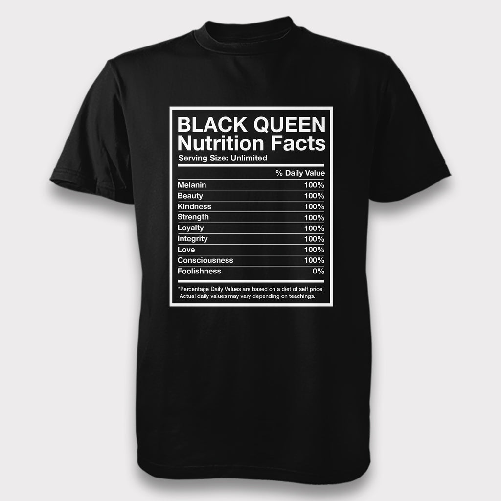 Black Queen Nutrition Facts - Unisex Tee