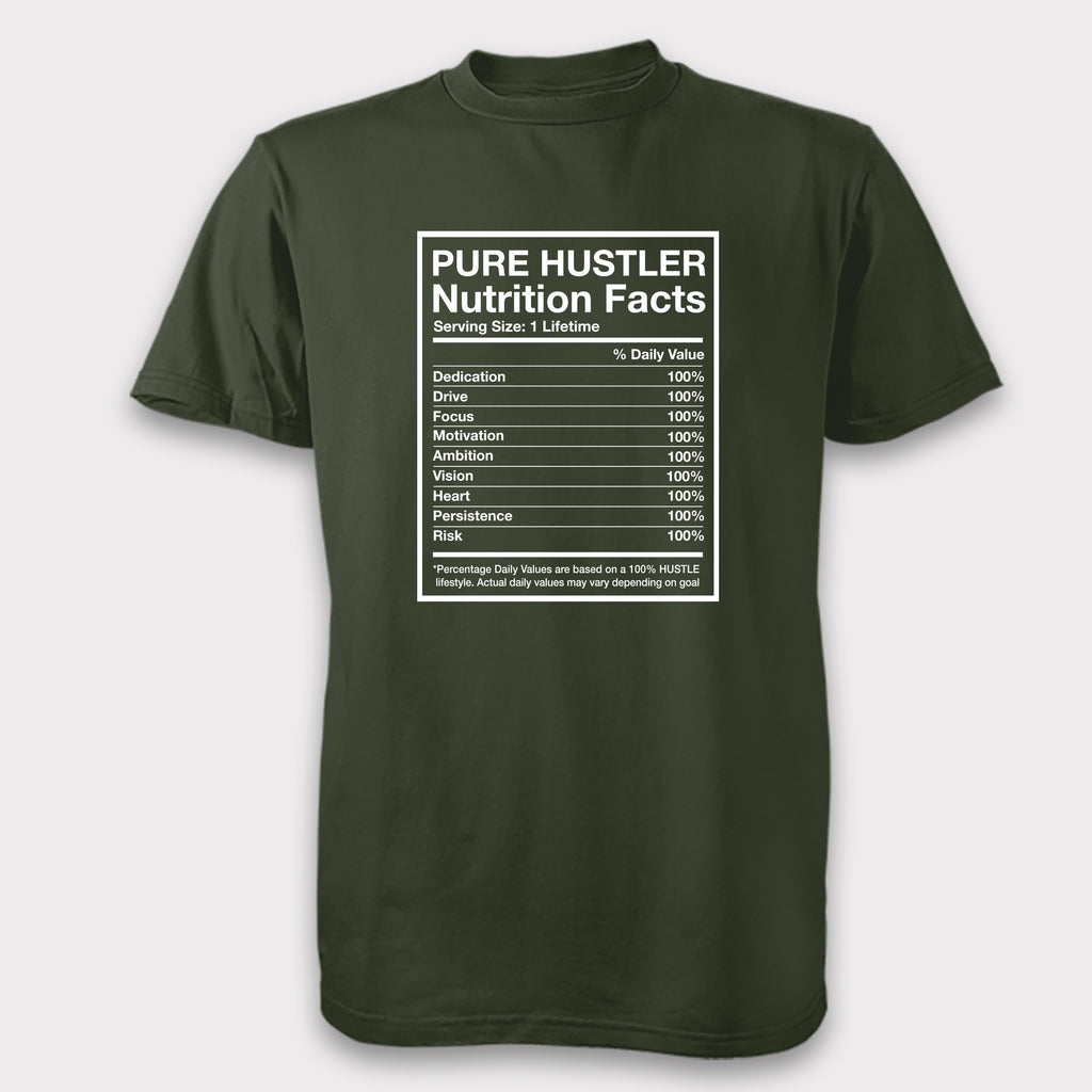 Pure Hustler Nutrition Facts - Unisex Tee