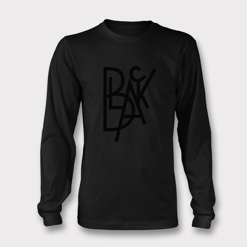 Simply Black - Long Sleeved tee