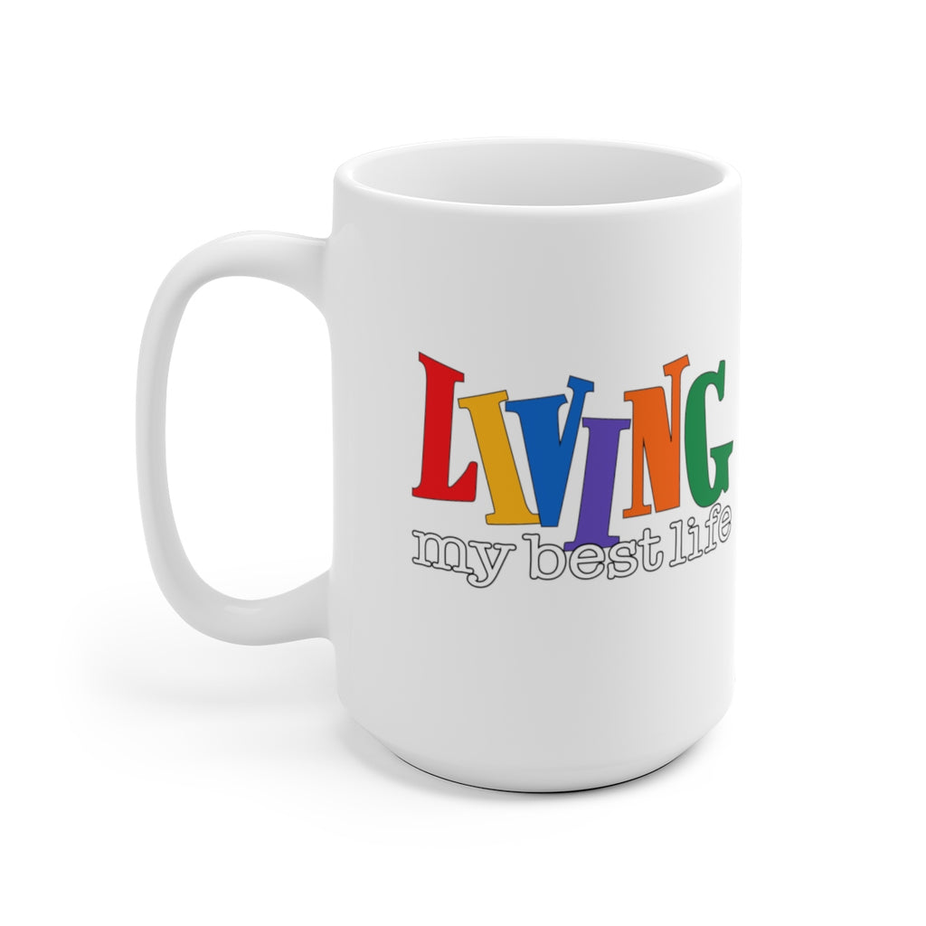 """Best Life"" - White Ceramic Mug"