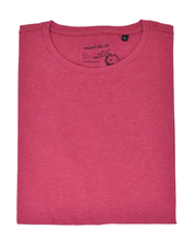 Laden Sie das Bild in den Galerie-Viewer, Marvelis Basic T-Shirt Halbarm Uni Magenta  reine Baumwolle
