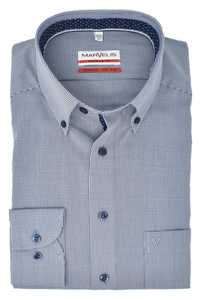 Marvelis Herren Businesshemd Modern Fit Vichykaro Button-Down