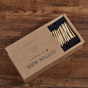 Bamboo cotton buds double head 200pcs - Smallbamboo