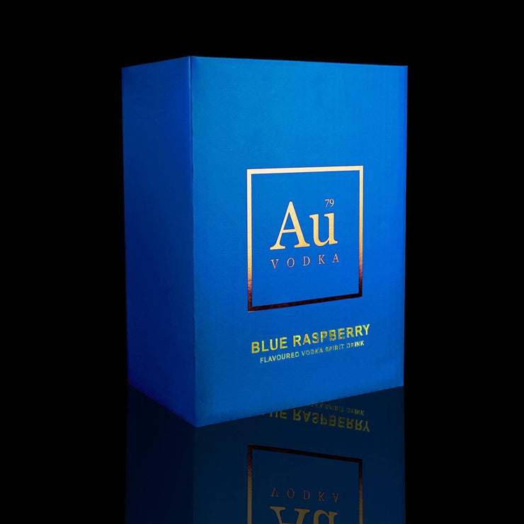 SWANSEA Case of 6 Au Vodka Blue Raspberry Flavour