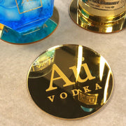 AU GOLD MIRRORED COASTERS - Au Vodka