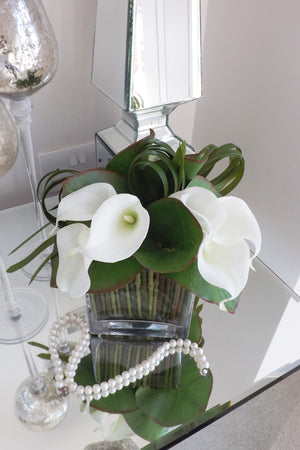 Calla Lily in a Glass Cube
