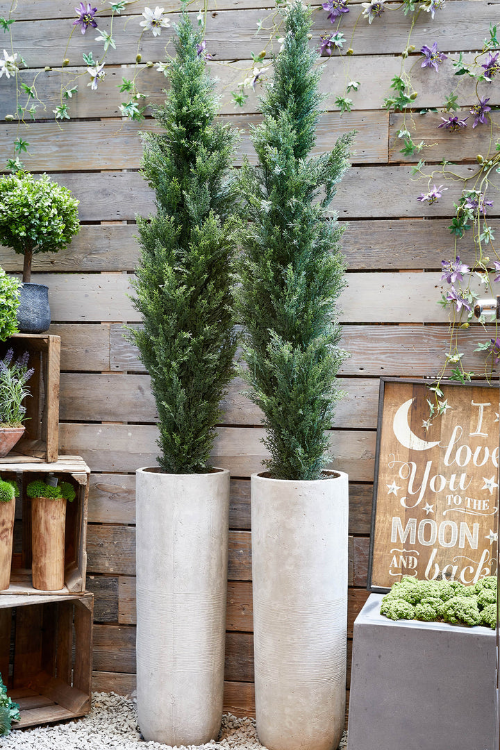 Artificial Cypress Tree in a Stone Pot