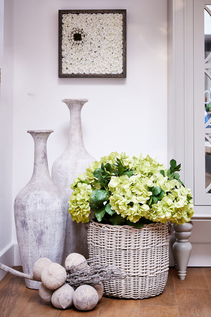 Hydrangea in Basket green