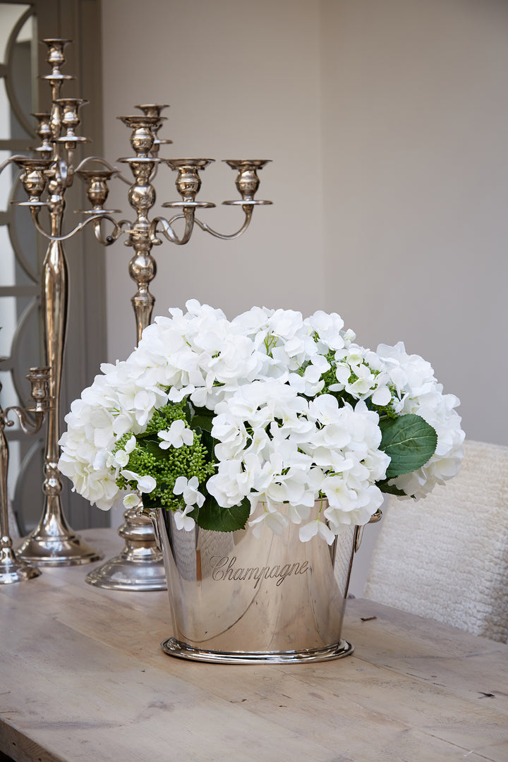 Hydrangeas in a Champagne Cooler