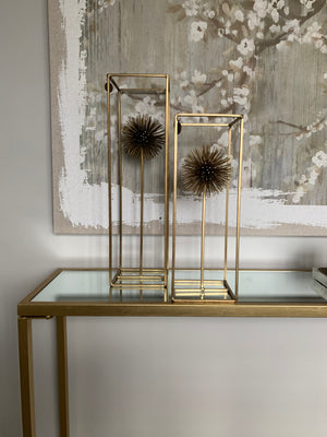Spiky Gold sphere Sculpture Set