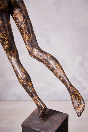 Rain man Sculpture, Solid Brass