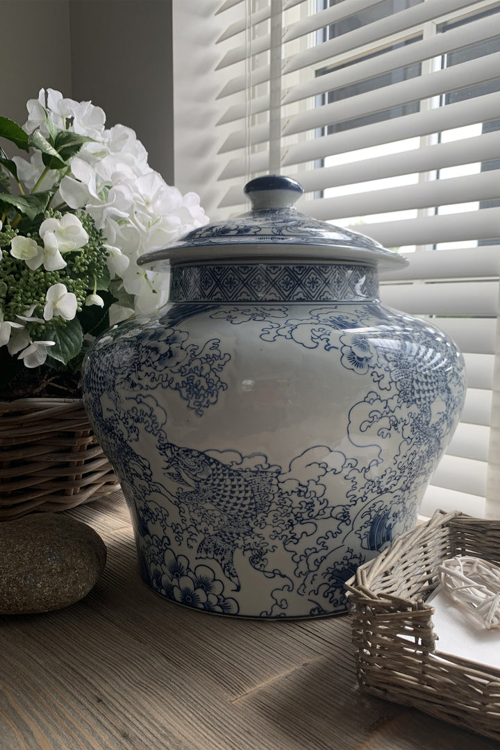 Oriental Blue Ginger Jar