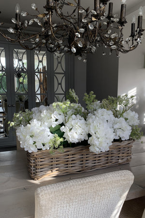 Hydrangea and Queen Anne's Lace in a Hydrangea Basket