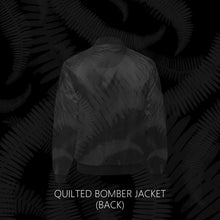 Load image into Gallery viewer, Kupukupu Fern Quilted Bomber Jacket