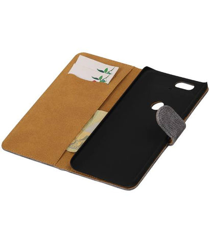 Huawei Nexus 6P Grijs | Lizard bookstyle / book case/ wallet case Hoes  | WN™ - hoesjeshoek