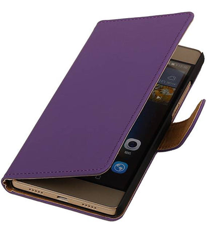 Huawei Huawei Ascend P8 Lite Paars | bookstyle / book case/ wallet case Hoes  | WN™ - hoesjeshoek