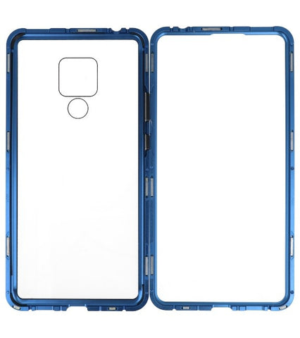 Mate 20 X Blauw - Transparant | Magnetic Back Cover  | WN™ - hoesjeshoek