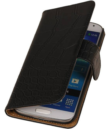 Acer Liquid E3 Zwart | Croco bookstyle / book case/ wallet case Hoes  | WN™ - hoesjeshoek