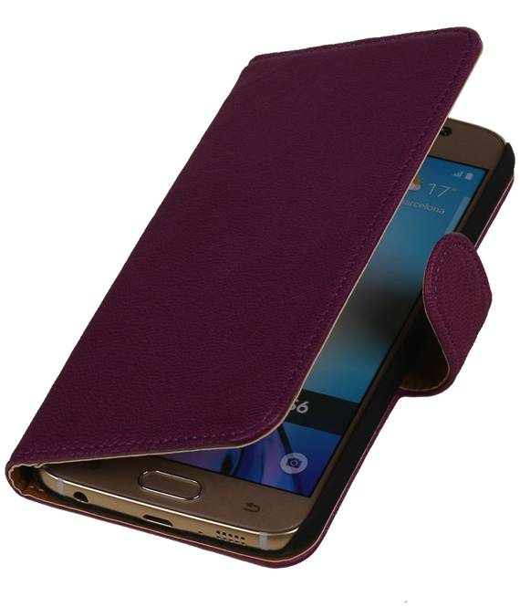 Samsung Galaxy Grand Neo i9060 Paars | Echt leder bookstyle / book case/ wallet case Hoes  | WN™ - hoesjeshoek